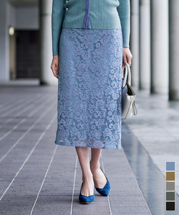 レースタイトスカート(商品番号:BSXU0468)