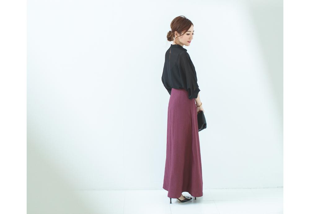 麻混セミフレアスカート着用している星玲奈さん5