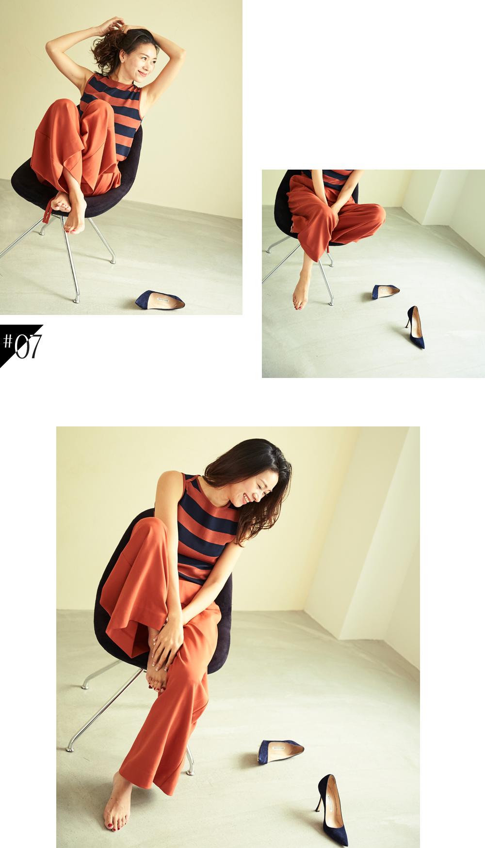 大人な着こなしで魅せるur'sの秋コレクション スタイリング大日方久美子(おびなたくみこ)_07