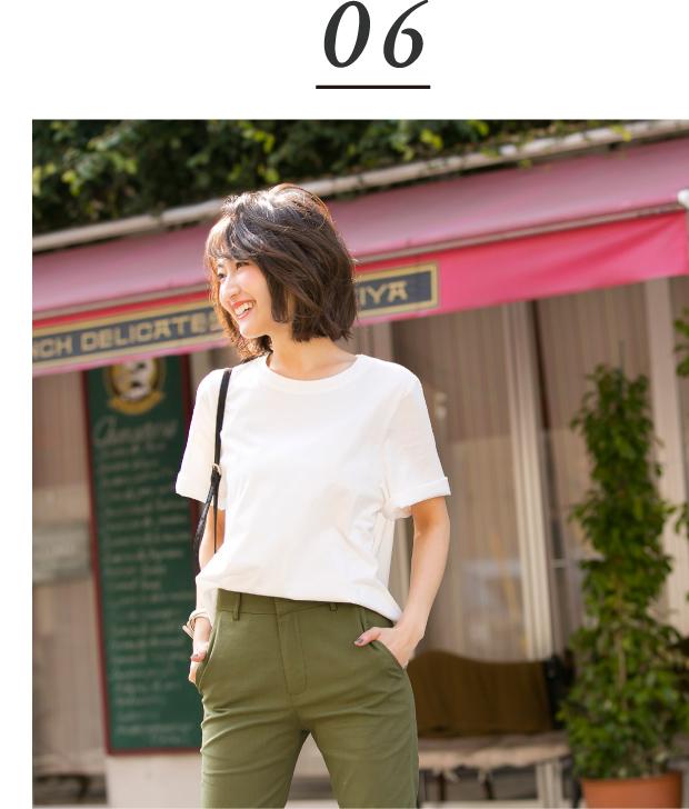 金子麻貴さんのプルオーバーにストレートパンツを合わせたコーデ